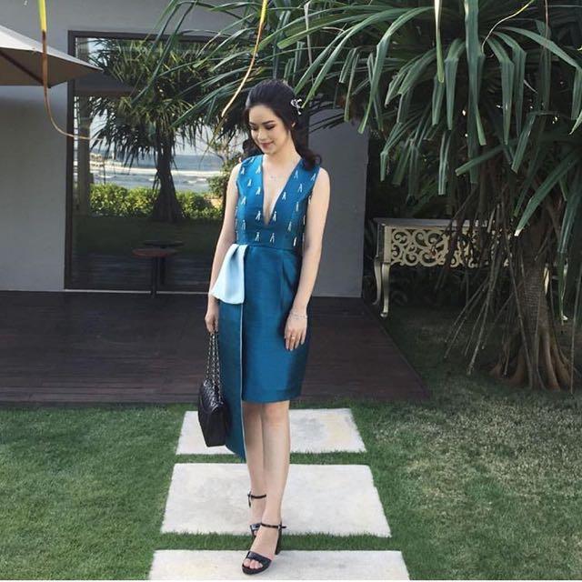 Soecah Blue Elegant Dress