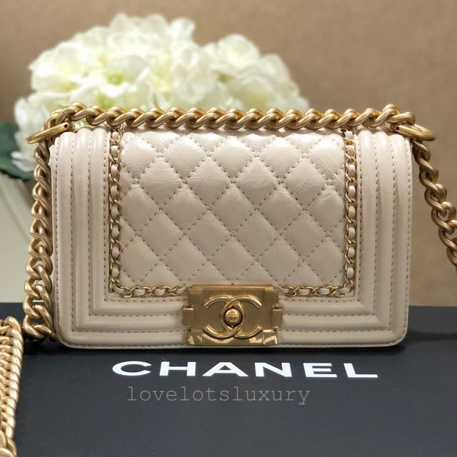3dbce33e0dc7b9 SOLD) ♥ New Unworn Chanel Small Boy Jacket Chain Detailed in ...