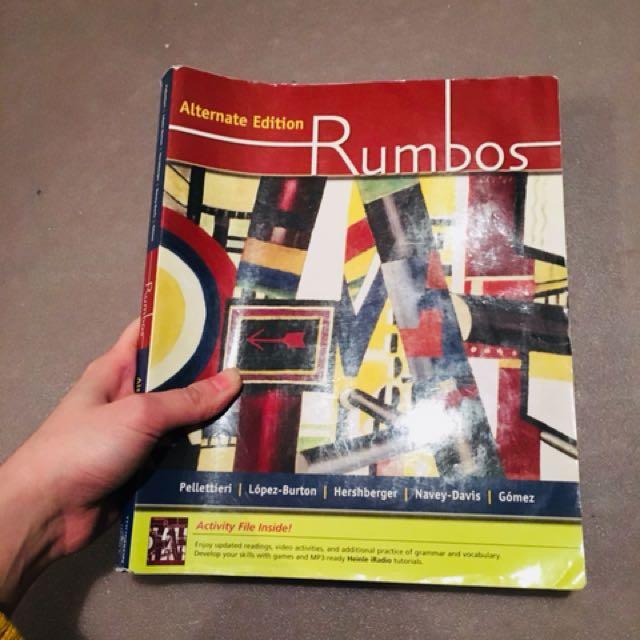 Spanish textbook (Rumbos) span304 span305