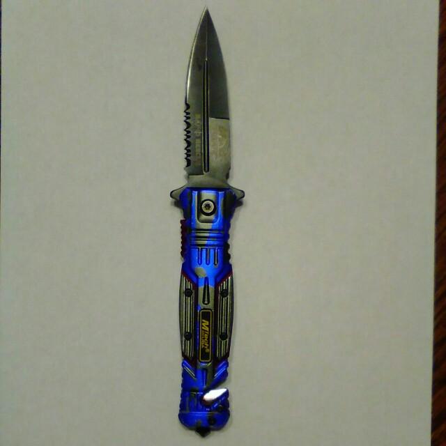 Spring assist emtek pocket knife