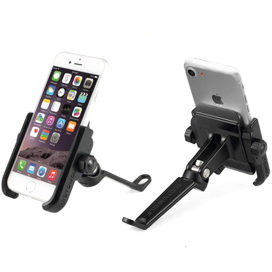 Stainless Steel Side Mirror Handphone Mount for Motorcycle