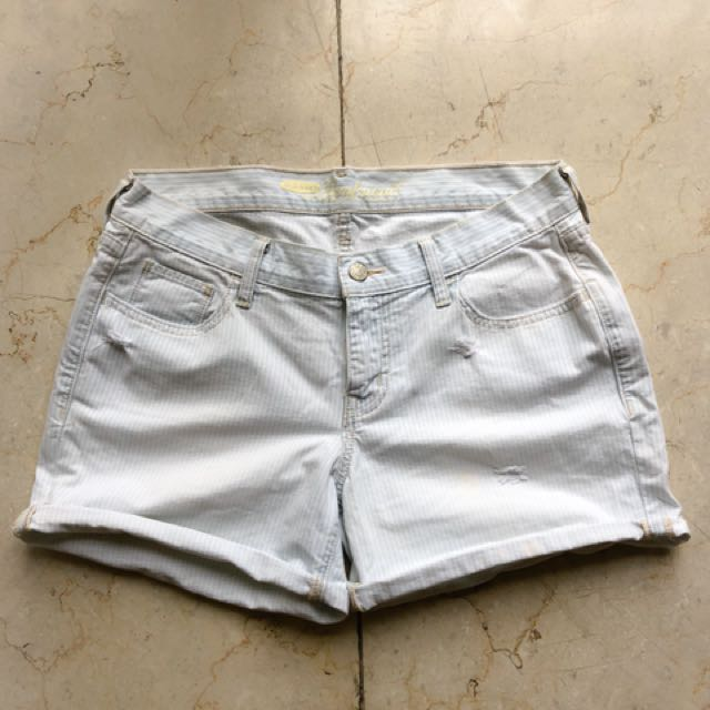 Striped Boyfriend Shorts
