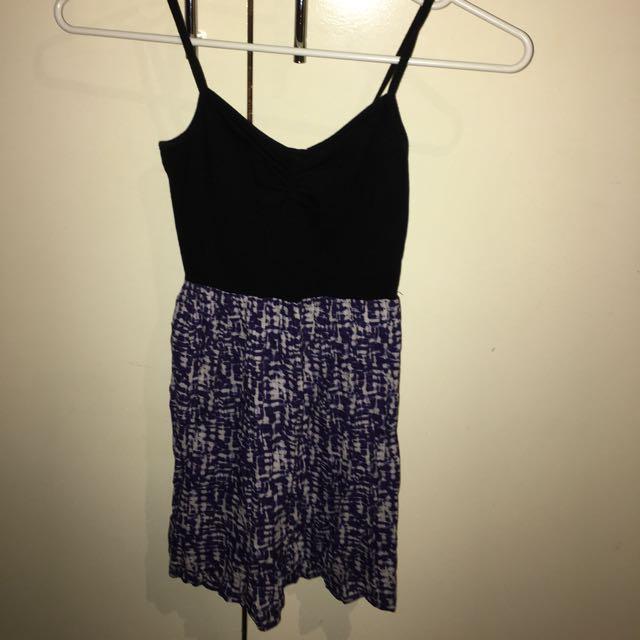 Super purple skater dress