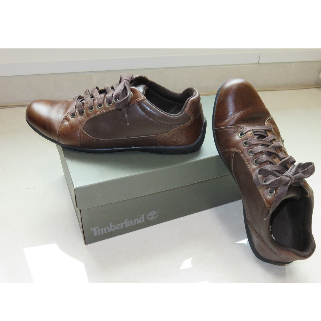 f1c5a8fcc3e Timberland Low Profile Plain Toe Oxfords Mens Leather Brown Shoes ...