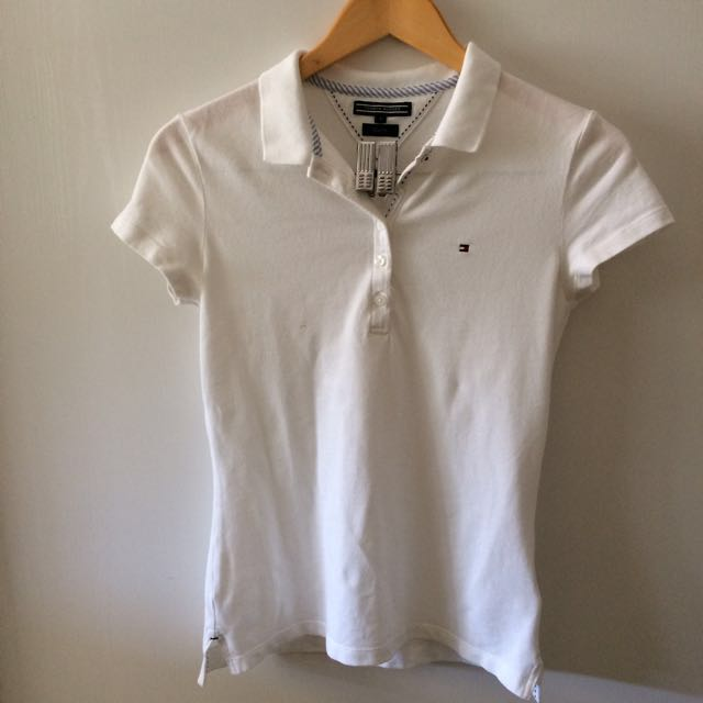 Tommy Hilfiger slim fitting white top