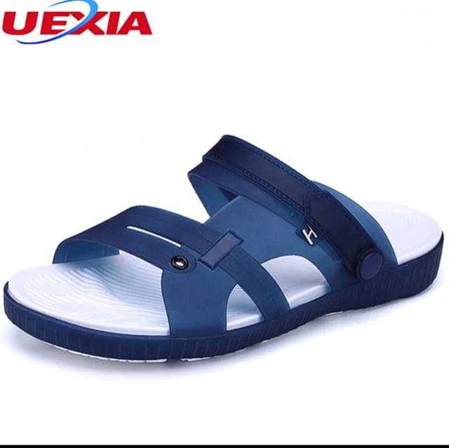 19efcea0ea1 UEXIA Summer Slippers Men Casual Leisure Soft Slides Eva Massage Beach  Slippers Water Shoes Men s Sandals Flip Flops Soft bottom