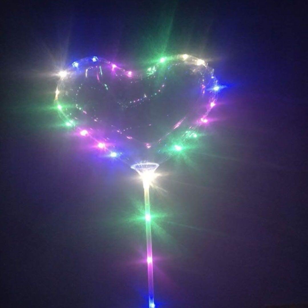 Valentines Day Heart Shape Luminous Led Balloon