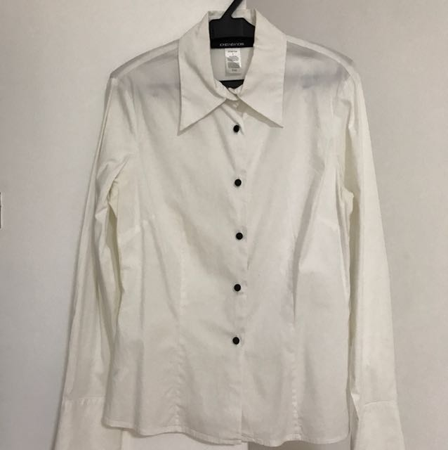White Polo with cute black buttons