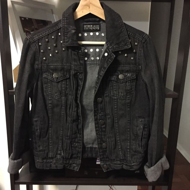 Women's Denim Jacket XS With Spikes