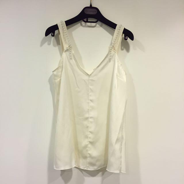 Zara 珍珠絲質背心