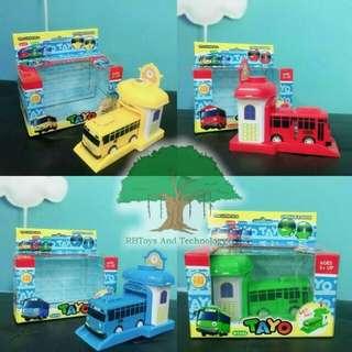 Tayo The Litte Bus Dengan Garasi 4Set