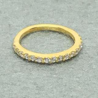 Michael Kors Sample Ring size US 7 金色閃石戒指 直徑1.7 cm