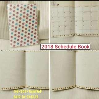 清貨價💥2018 Schedule Book (日本假期) 不二家 牛奶妹 Milky