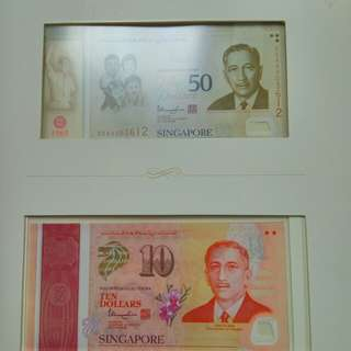 Singapore SG50 6pcs identical no set 50AA 5AA 003612 with folder UNC