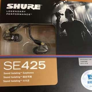 Shure SE425 In-Ear Monitor 可換線 雙動鐵單元 入耳式耳機
