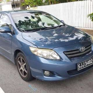 Toyota Altis $50/ Honda Civic Hybrid $55 for Uber Grab