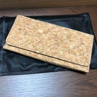 (全新) 水松軟木長款銀包