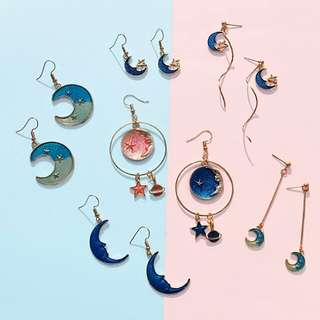 (PO) Hook On / Faux - Galaxy Earring Collection