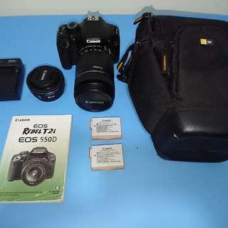 Canon EOS 550D/ Rebel T2i + Lens