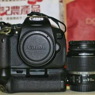 Canon EOS 650D With Battery Grip  18-55mm Image Stabilizer