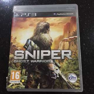 PS3 Games sniper ghost warrior