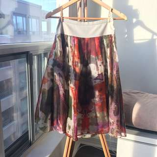 Anthropologie - Edme & Esyllte Silk Watercolor Skirt