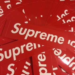 Supreme stickers original 100%
