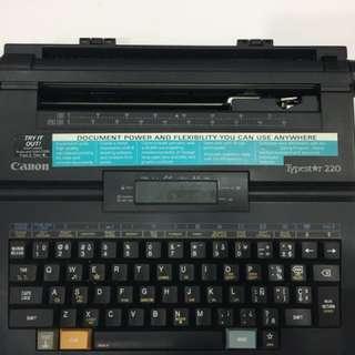 Vintage Canon Typewriter