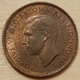 1948 Great Britain King George VI Farthing Coin