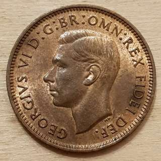 1949 Great Britain King George VI Farthing Coin
