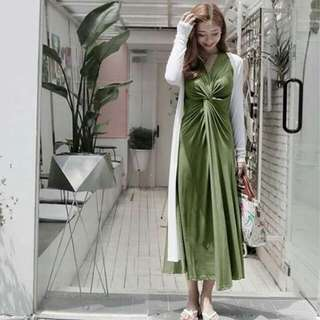 P390 *Best Seller *Re-Stock / New Arrival *Korean Dress for Her *thick fabric *fit small to large frame *2 colors avail