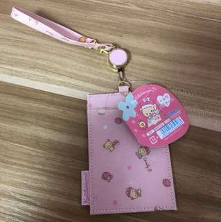 <New> Rilakkuma Lanyard with 2 Card Slots & Retractable Wire