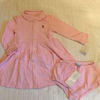 POLO Ralph Lauren 粉紅色長袖裙