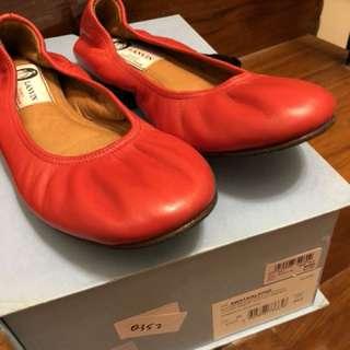 LANVIN Red ballerina size 35.5