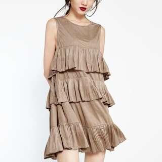 Pomelo ruffles tier dress