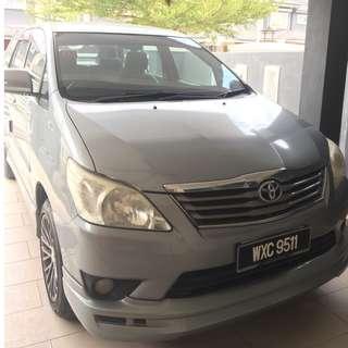 Toyota innova (A) 2.0G 2012