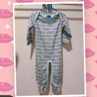 Sleepsuit baby long green