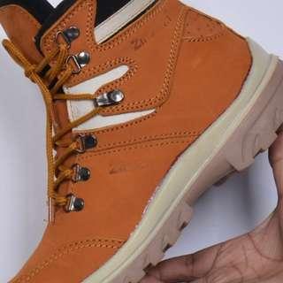 Kickers Boots Safety Kulit asli tan original