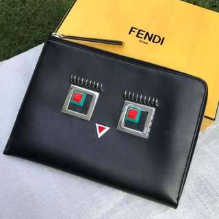 Authentic Fendi Monster Clutch