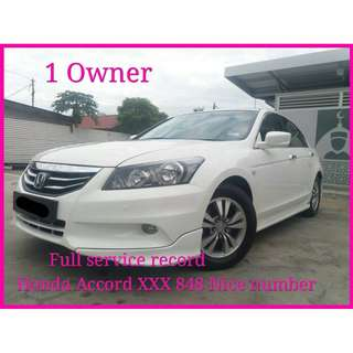 2012 Honda Accord 2.0 (A) FACELIFT FULL SVC RECORD