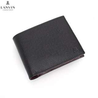 🚚 Lanvin collection 男女短夾 皮夾 黑 (porter可參考)