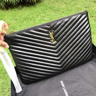 Authentic Saint Laurent Large Clutch