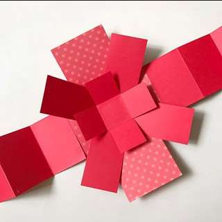 Diy 3 Layers Explosion Box Card in red