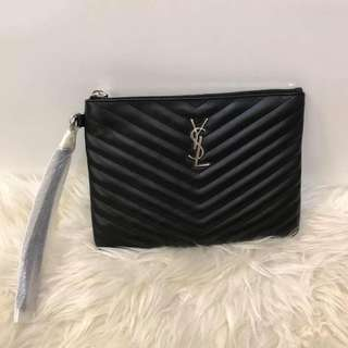 Authentic Saint Laurent Monogram Small Clutch