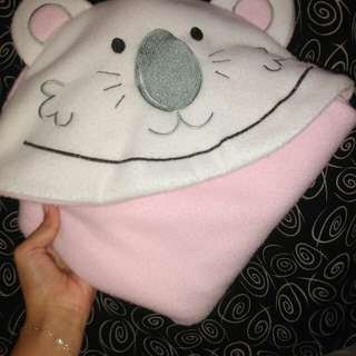 selimut baby pink