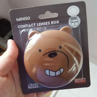 We Bare Bears Grizz contact lens box