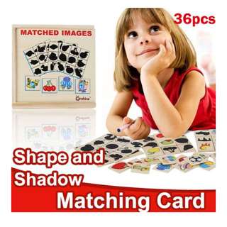 👣 SHAPE AND SHADOW MATCHING CARD