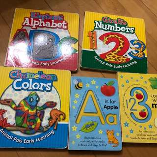 Children's book - Learning ABC, 123 and colours