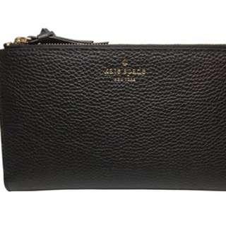 100% original Kate Spade Mulberry Street Malea Double Zip Wallet