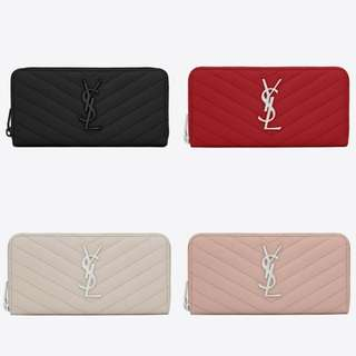 YSL Monogram Zip Around Wallet